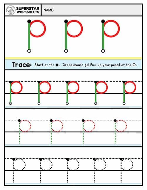 Alphabet Writing Worksheets Lowercase - Superstar Worksheets