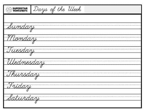 Calendar Worksheets - Superstar Worksheets