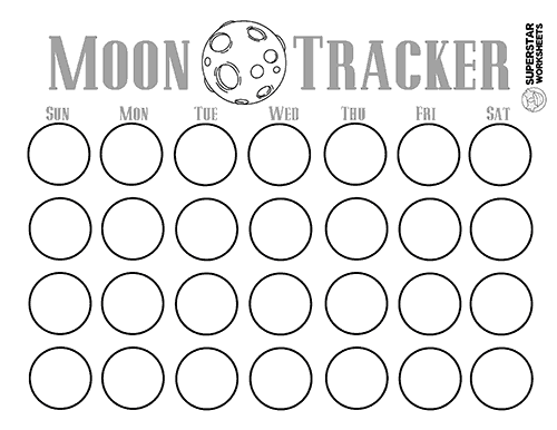 Phases Of The Moon Worksheets Superstar Worksheets