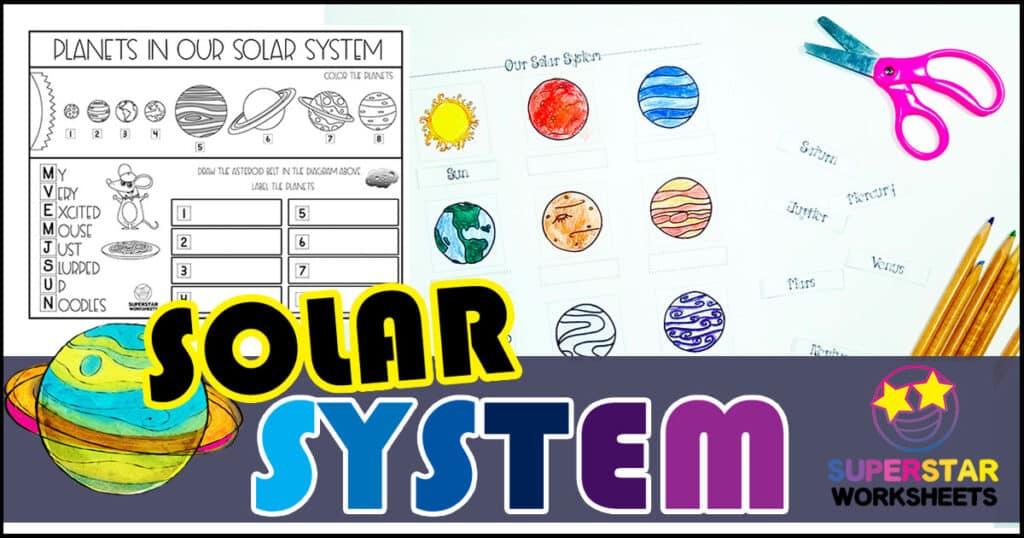 Solar System Worksheets - Superstar Worksheets