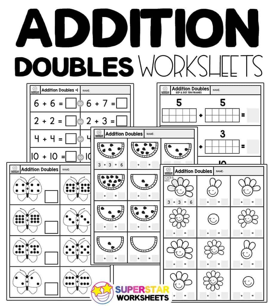 Addition Doubles Worksheets Superstar Worksheets