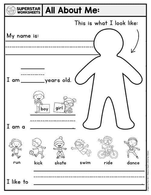 Kindergarten Writing Worksheets - Superstar Worksheets
