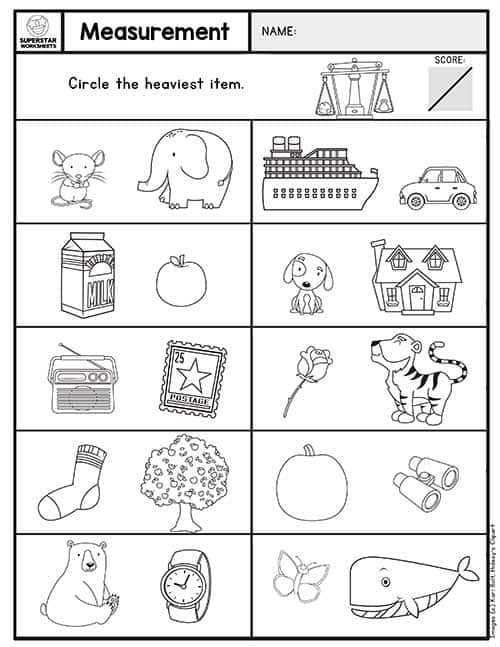 Kindergarten Assessment Worksheets