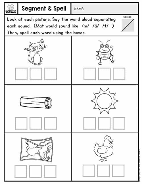 Kindergarten Assessment Worksheets - Superstar Worksheets