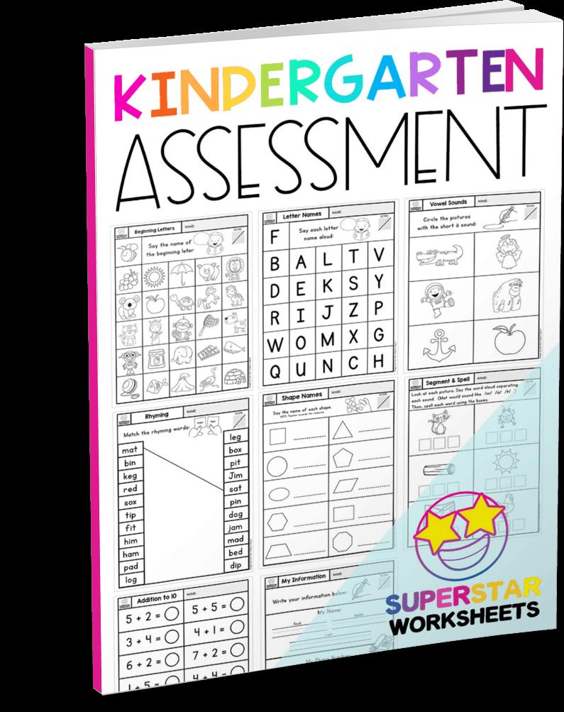Kindergarten Assessment Worksheets - Superstar Worksheets