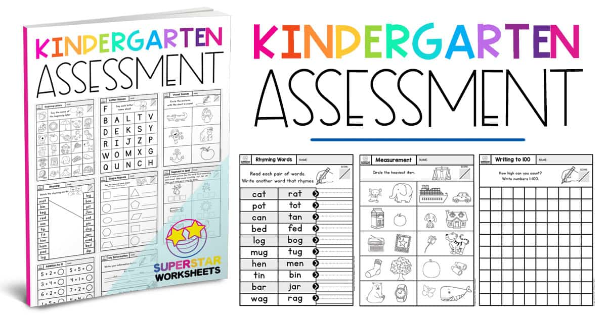 Kindergarten Assessment Worksheets Superstar Worksheets One of the downfalls of larger class sizes is all the extra time it takes to assess and complete report cards. kindergarten assessment worksheets