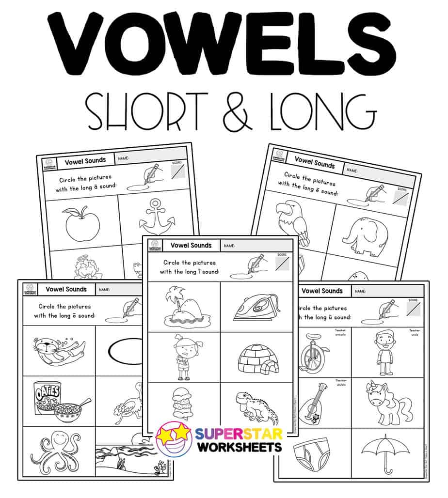 Vowel Sounds Worksheets   Superstar Worksheets