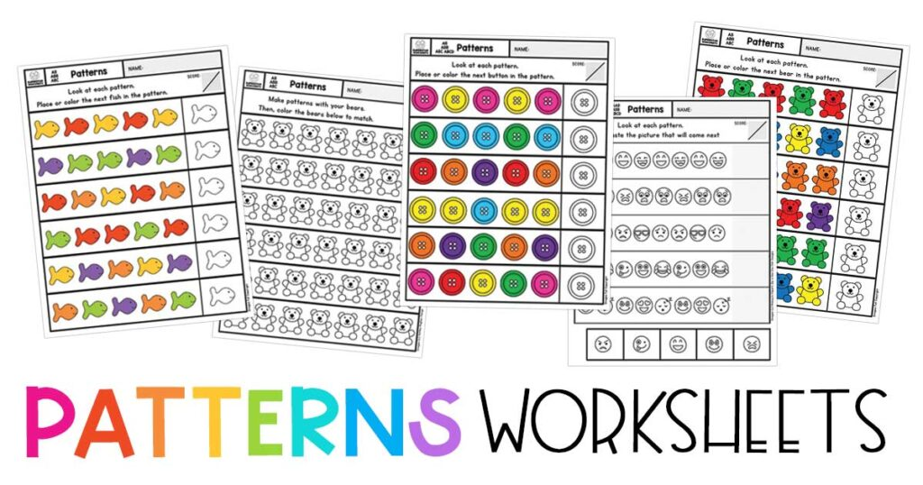 Pattern Worksheets Superstar Worksheets