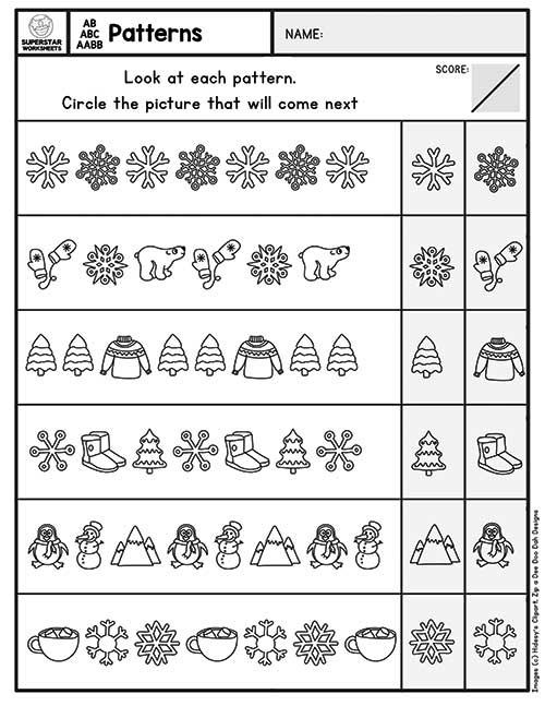 Pattern Worksheets - Superstar Worksheets