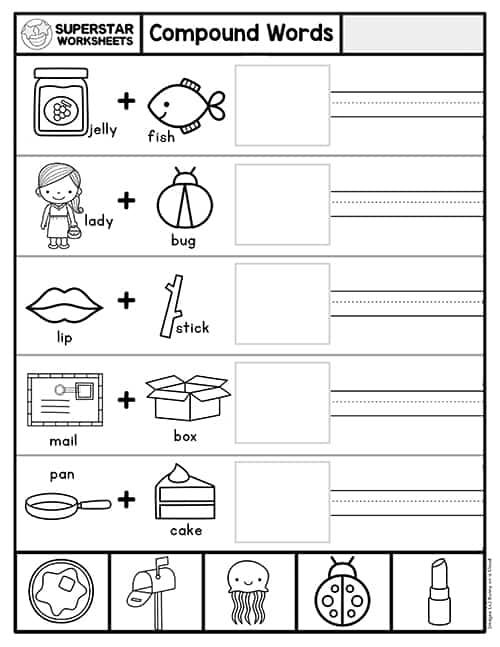 Compound Words Worksheet   Superstar Worksheets