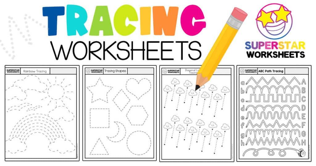 Tracing Worksheets - Superstar Worksheets