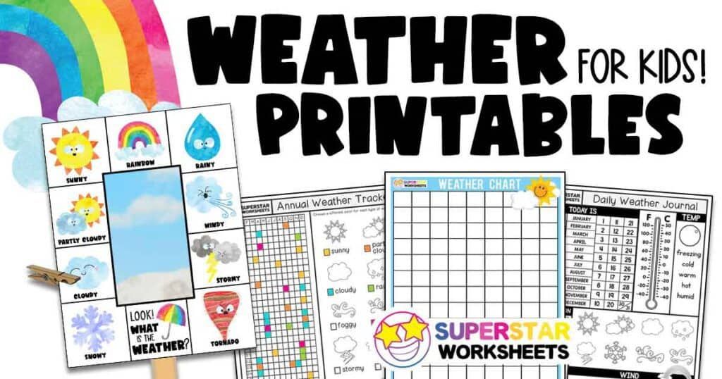 Weather Printables Superstar Worksheets