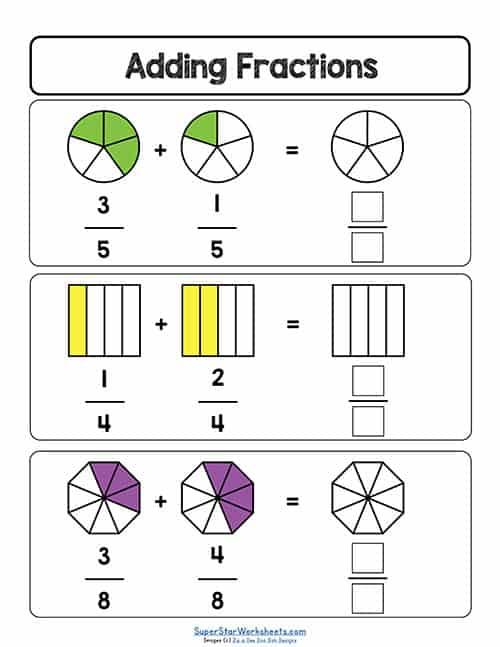 Fractions Worksheets - Superstar Worksheets