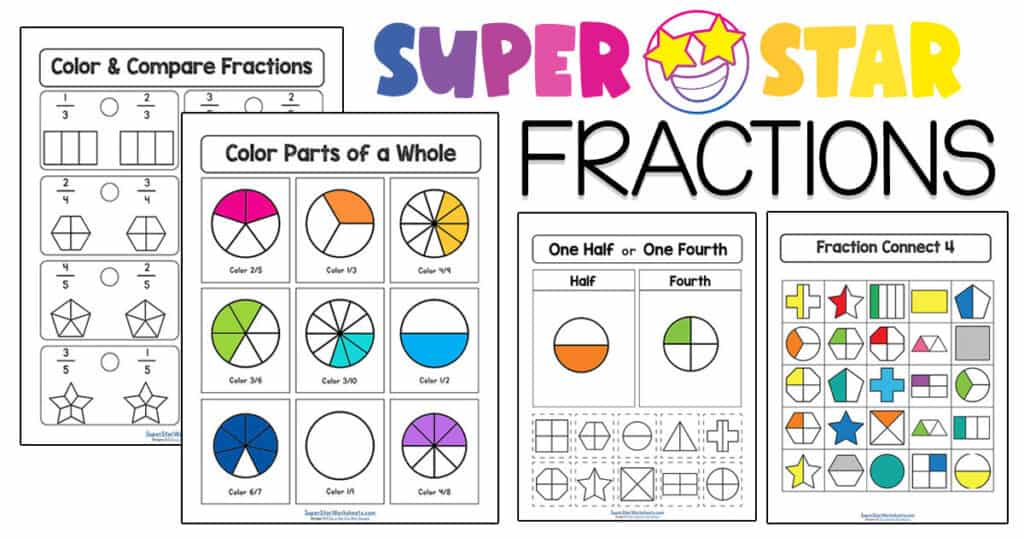 Fractions Worksheets - Superstar Worksheets