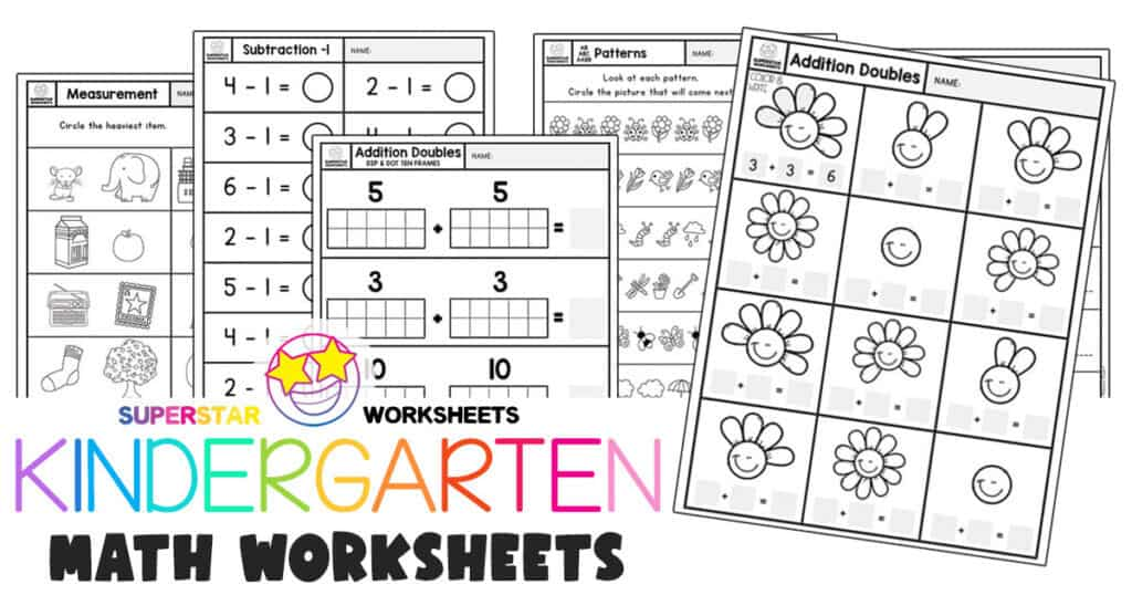 Kindergarten Worksheets - Superstar Worksheets