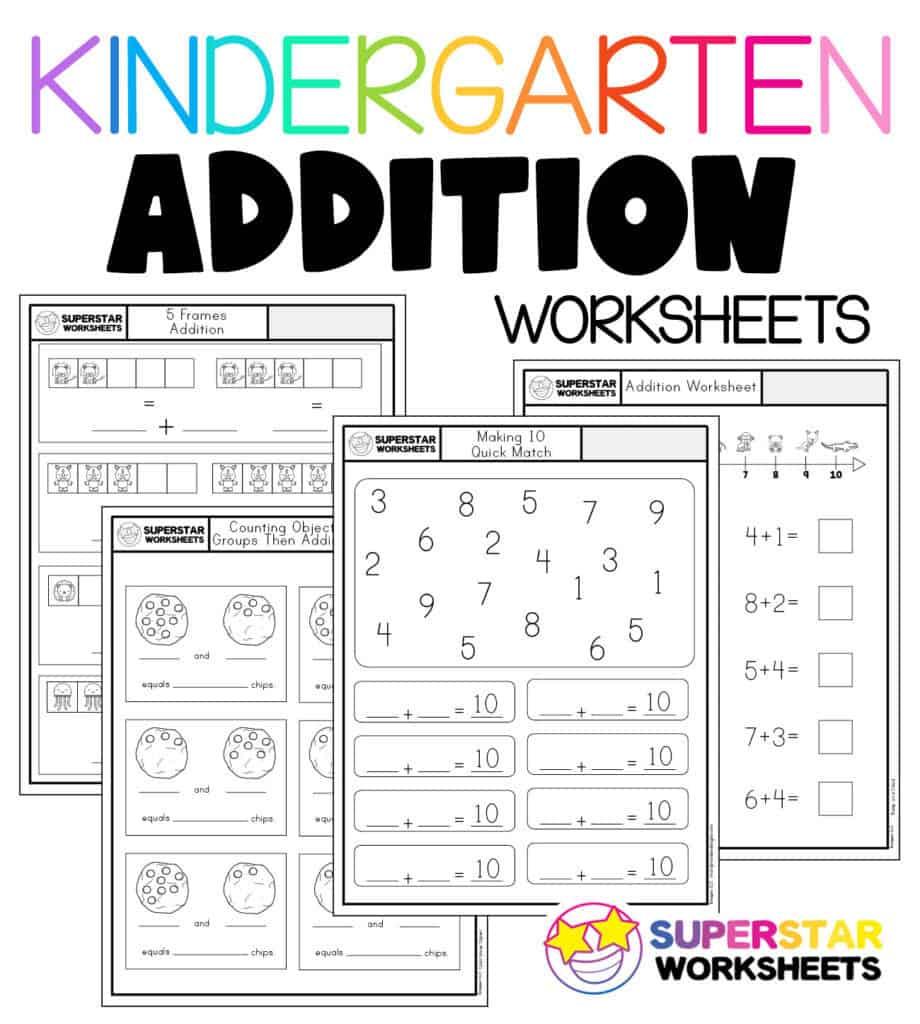Kindergarten Math Worksheets Superstar Worksheets - Get Simple Addition Worksheets For Kindergarten Gif