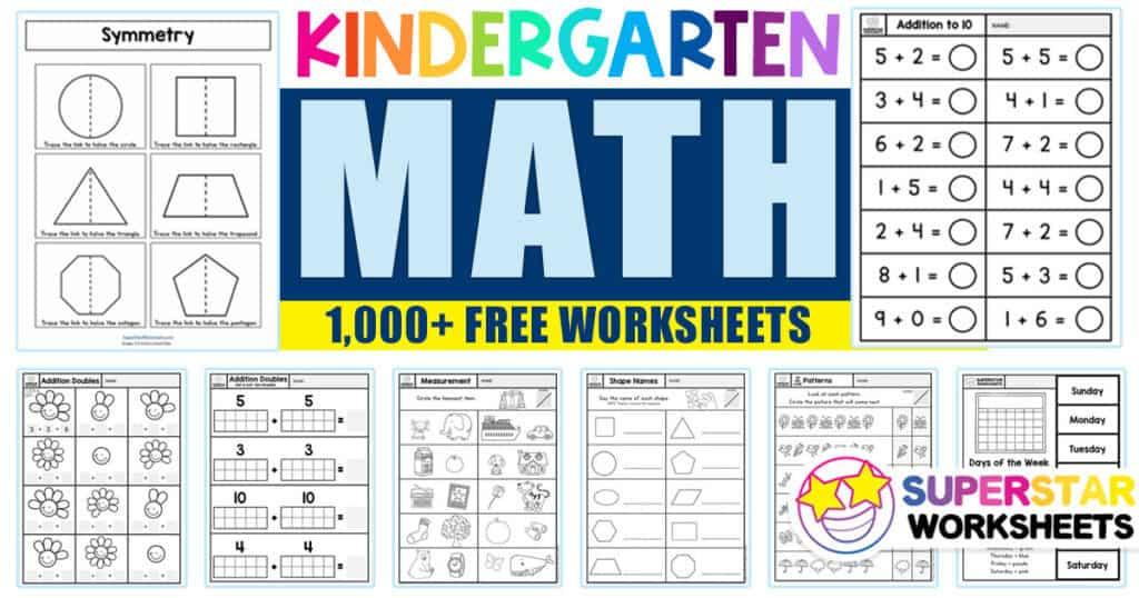 Kindergarten Math Worksheets - Superstar Worksheets