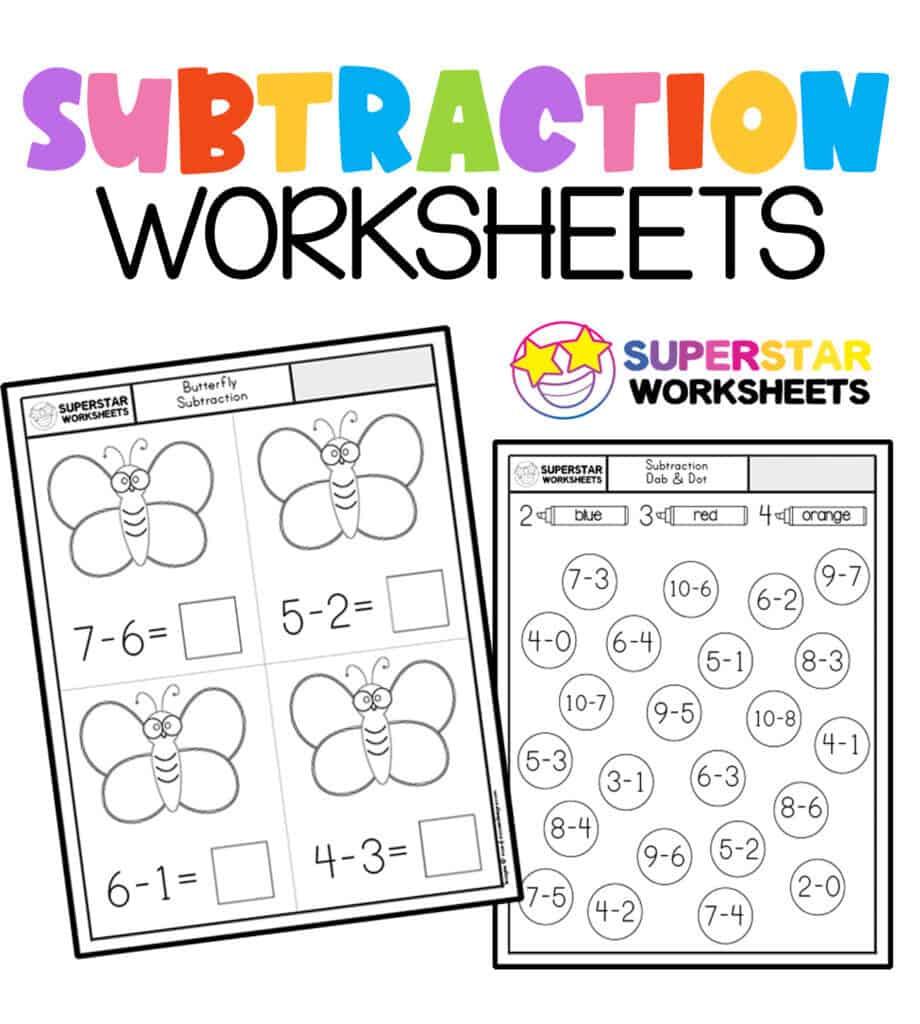Kindergarten Math Worksheets Superstar Worksheets